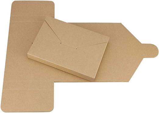 Saller Mailer estuche plegable para A6, C6, tarjeta postal, altura de relleno 20 mm, papel de estraza, caja de cartón kraft, para tarjetas postales, tarjetas de vista, fotos – Pack de 10: