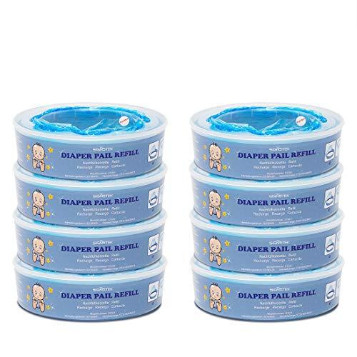 Signstek Diaper Pail Refills for Diaper Genie Pails,2160 Count,8-Pack (Diaper Genie Pail Refill)