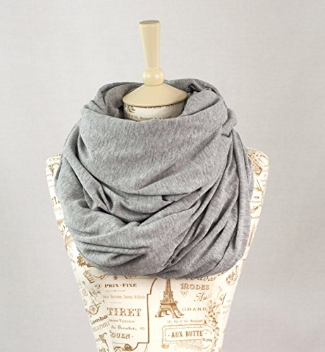 Oversized Jersey Infinity Scarf (Heather Grey)