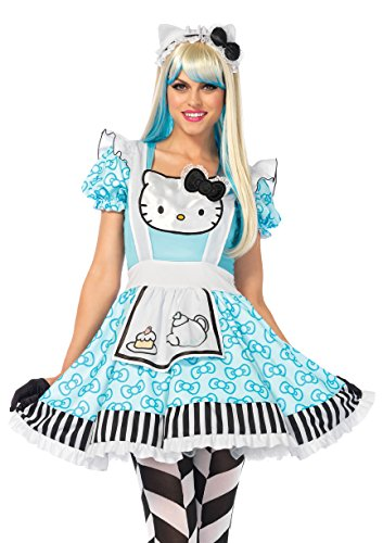 Womens Hello Kitty Costumes (Leg Avenue 3 PC. Hello Kitty Alice (Medium))