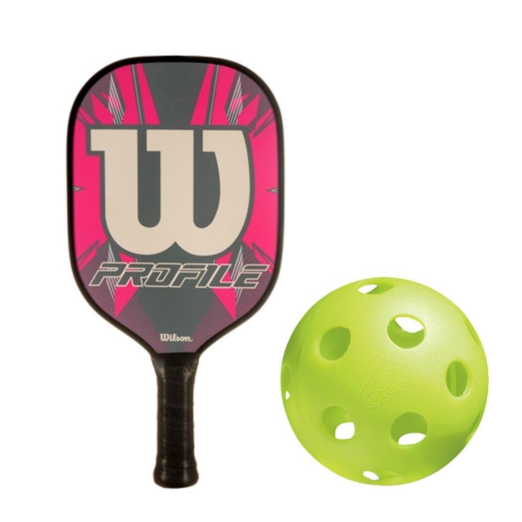 ウィルソンプロファイルグラファイト樹脂Honeycomb ピンク Pickleballパドルキットまたはセットバンドルwith a 6パックの水差しインドアPickleball Balls ( Bestパドルfor電源) ( B07CH27GDF a ピンク, アクア:83839a05 --- webshop.mrf.se
