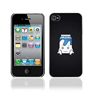 Colorful Printed Hard Protective Back Case Cover Shell Skin for Apple iPhone 4 / 4S ( Cute Milk Carton Illustration )