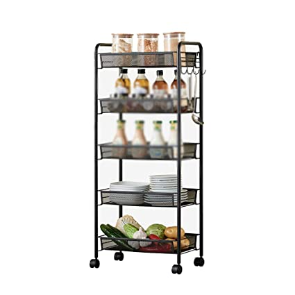 Kitchen Furniture - Estante de Cinco Capas Tubo Redondo del Acero de Carbono del Estante del