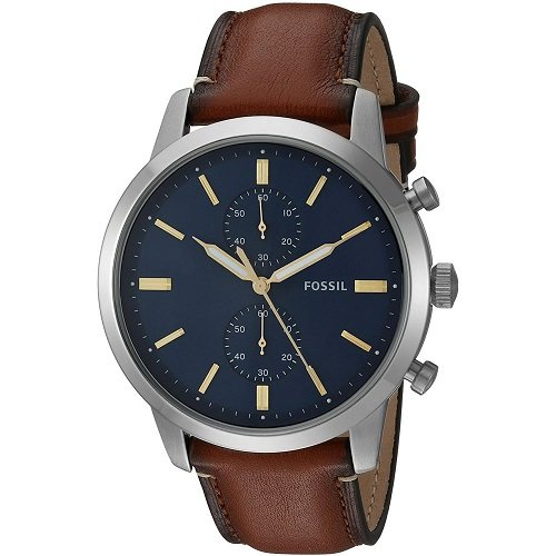 2a164aba5555 Buy Fossil Choronograph Blue Dial Townsman Men s Watch Online at Low Prices  in India - Amazon.in