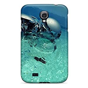 New Arrival Premium S4 Case Cover For Galaxy (3d Water Statue)