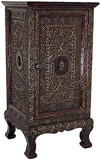 Buddha Wandrelief Wandbild 3-tlg massiv Holz Chinesische Möbel Thai 52x45 WG