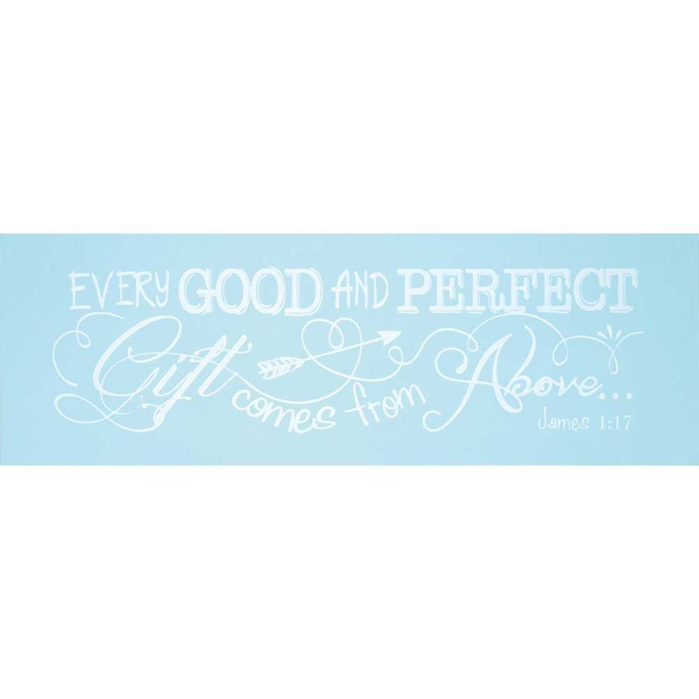 Dicksons Baby Boy Wall Plaque, Every Good and Perfect Gift James 1:17/Blue