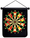 UKXHY 15' Magnetic Dartboard Sets With 6 Reversible Darts Rolling Two Sided Bullseye Game Magnetic Safety Dart Board for Kids Family Leisure Sports