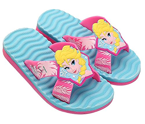 Disney Frozen Elsa River Girls Summer Slippers Slide Sandals (Parallel Import/Generic Product)