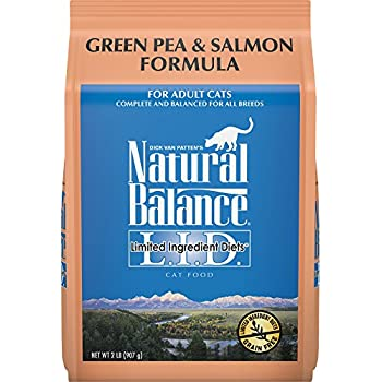 Natural Balance L.I.D. Limited Ingredient Diets Dry Cat Food, Grain Free, Green Pea & Salmon Formula, 2-Pound