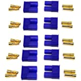 Generic Male/Female EC3 Style Connector w/3.5mm Gold Bullet Plug(pack of 5 pairs )