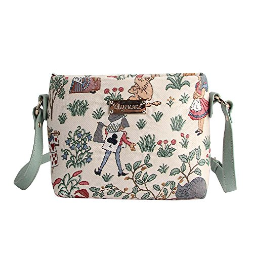Alice In Wonderland Makeup (Signare Womens Tapestry Across Body Bag Alice in Wonderland)