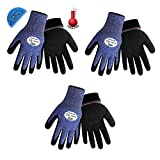 Samurai Glove® CR317INT Insulated, water repellant and ANSI level 4 Cut resistance, sizes M-XL (3Pair) (Large)