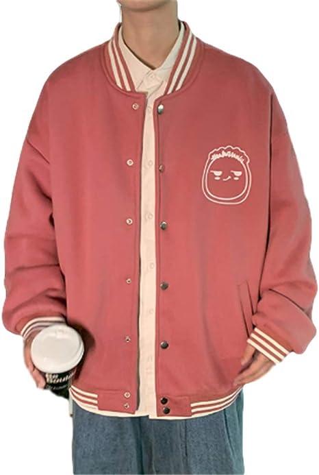 [YIMING] メンズ 野球服 ゆったり 日系 コート 韓国版 春秋 ジャケット 暖かい BF風 個性 かっこいい ブルゾン カジュアル 修身