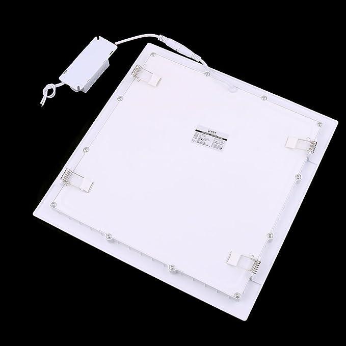 eDealMax blanco cálido 24W Ronda dormitorio regulable LED de techo empotrada panel abajo luz AC85-265V - - Amazon.com