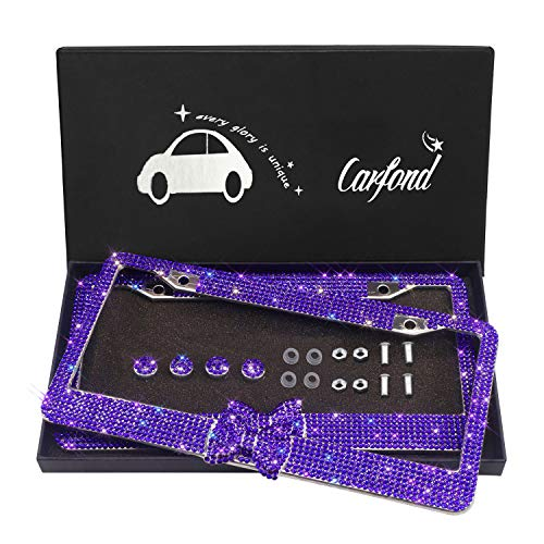 license plate frame purple bling - 2