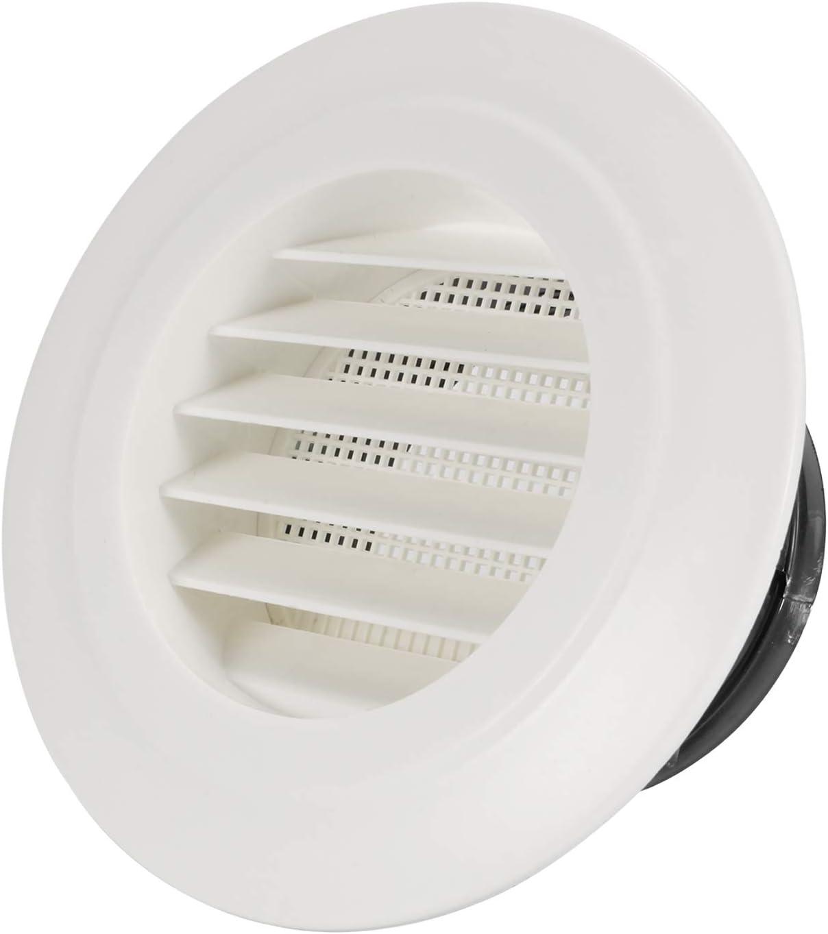 Hon&Guan ø100mm Ronda Rejilla de Ventilación ABS con Protección Contra Insectos , Respiraderos de Láminas para Baño Habitación Oficina (ø100mm): Amazon.es: Bricolaje y herramientas