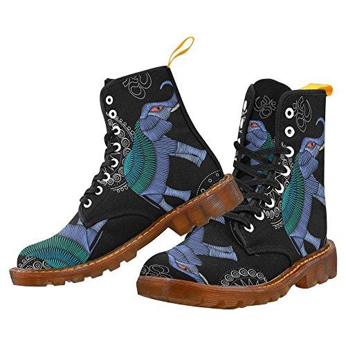 Interestprint Lumberjack Seamless Pattern Print Lace Up Botas Zapatos De Moda Para Hombres Elephant