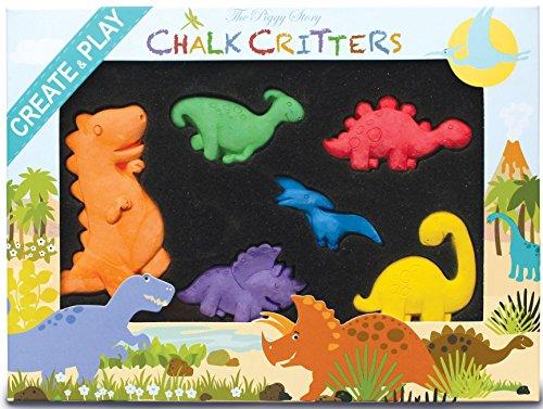 - The Piggy Story Chalk Critters 'Dinosaur World' 6Piece Shaped Colored Chalk Set