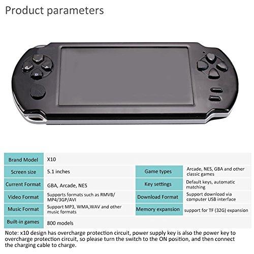 LUCK Consola de Juego portátil para niños Game Machine Console GBA ...