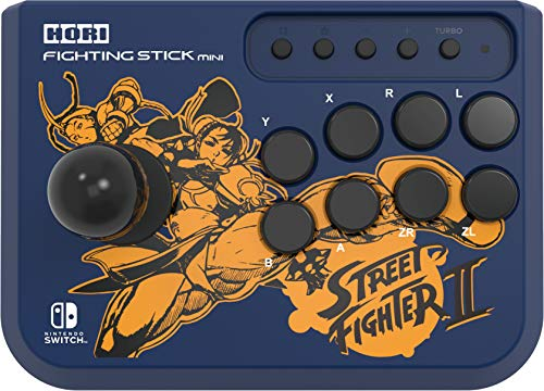 HORI Nintendo Switch Fighting Stick Mini - Street Fighter IITM Edition (Chun-Li & Cammy) Officially Licensed by Nintendo & Capcom