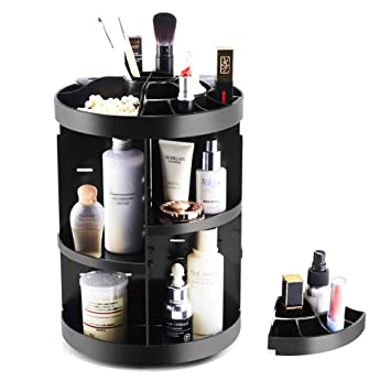 c849fdd53029 Amazon.com: Makeup Organizer Rotating Cosmetics Counter Storage ...