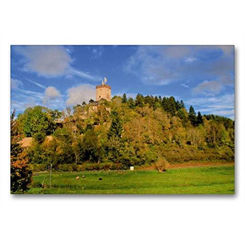 CALVENDO Toile de qualité supérieure - Motif Burg Kerpen - Impression sur Toile - 90 cm x 60 cm