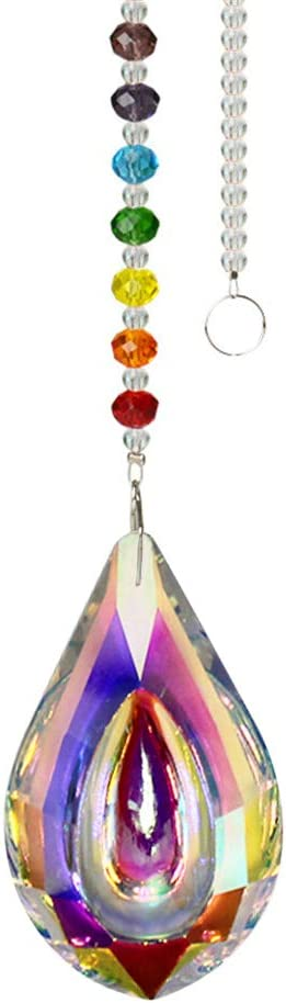 WEISIPU Crystals Ball Prisms Suncatcher, Hanging Ornament Chakra Crystals Colorful Crystal Pendants for Home, Office, Garden Decoration, Car Pendant, Birthday Present and Christmas Ornaments