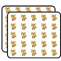 Cute Fox Sticker for Scrapbooking, Calendars, Arts, Kids DIY Crafts, Album, Bullet Journals 50 Pack