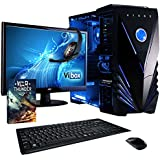 "Vibox Ultra Package 11 Gaming PC - with Warthunder Game Bundle, Windows 10, 21.5"" HD Monitor, Gamer Headset, Keyboard & Mouse Set (3.1GHz AMD A8 Quad Core Processor, Radeon R7 Graphics Chip, 1TB Hard Drive, 8GB RAM, Vibox Tactician Blue LED Case)"