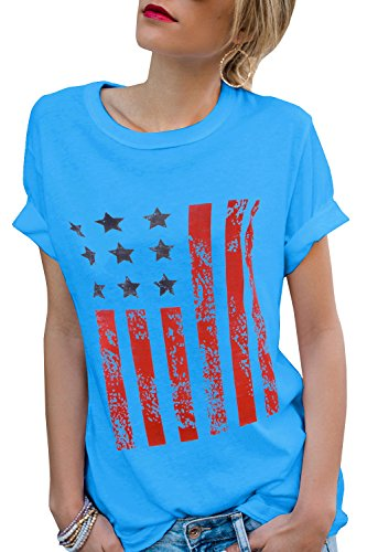 rican Flag Shirts Roll Over Short Sleeve Crew Neck Tee Tops (Roll Neck T-shirt)