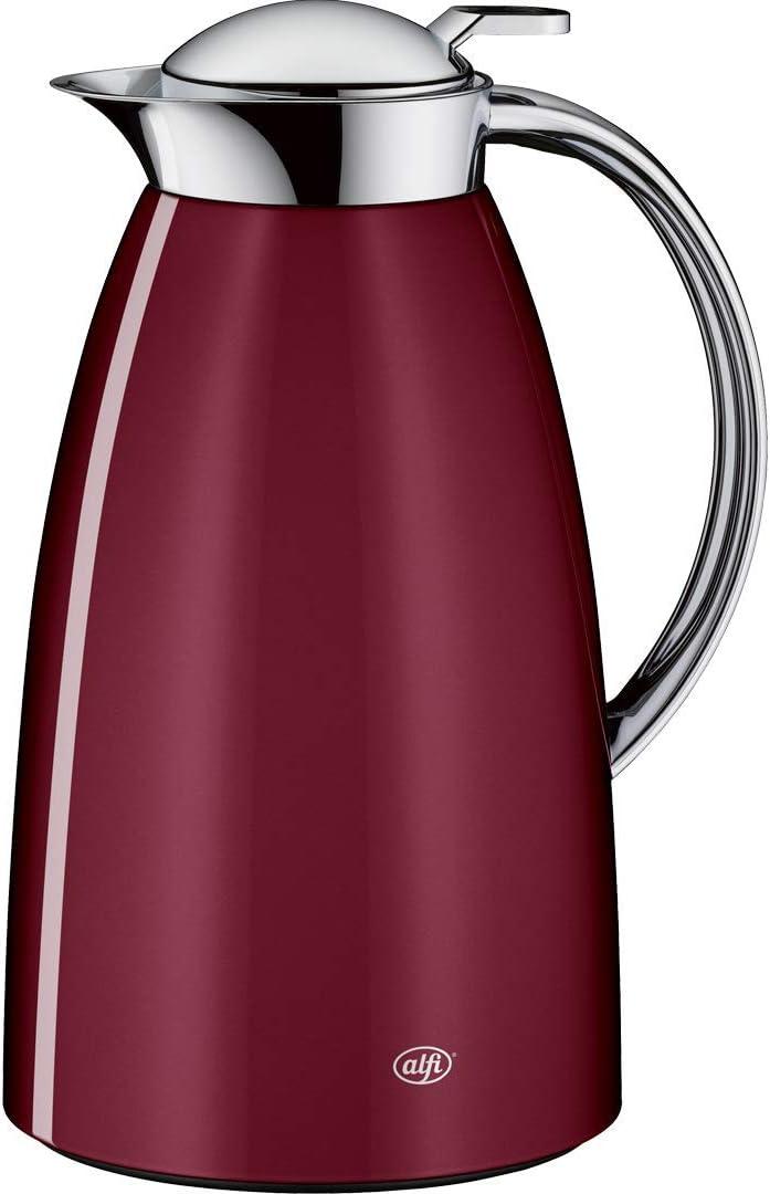 Alfi Gusto Glass Vacuum Lacquered Metal Thermal Carafe für heiß und Cold Beverages, 1.0 L, Aubergine
