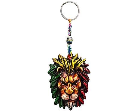 Amazon.com: Rasta Scar Lion Reggae - Llavero con diseño de ...