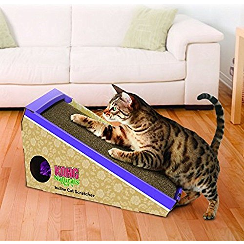 KONG Naturals Incline Scratcher Cat Toy (Animated Hex)