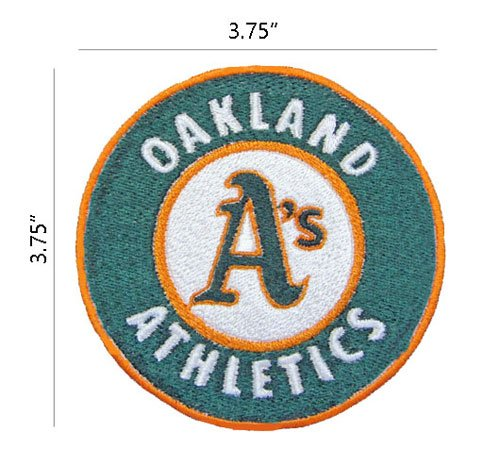 Baseball Round Embroidered Patch ()