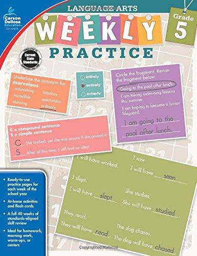 Language Arts, Grade 5 (Weekly Practice)