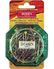 Bohin Glass Head Quilting Pins, Size 30, 100-Pack