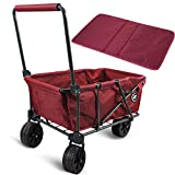Best Beach Wagon For Sands - REDCAMP Folding Beach Wagon Cart with Big Wheels Review