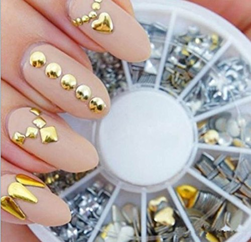 1-Sets Beauty Popular 3D Acrylic Rhinestones Nails Art Wheel Cellphone Colorful Decor Accessory Decor Pattern Style #10 - Collection Barcelona Spice