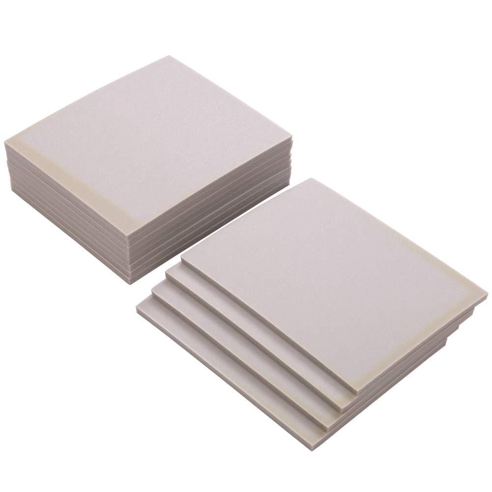 White Softback Sanding Sponge Sheet 4-Type (Fine/Medium/Super Fine/Ultral Fine) Set 12 Pack by DLLJ