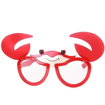 BESTOYARD Juguete Gafas Divertidas Disfraz Gafas Accesorios para niños  Cangrejo Anteojos Vestir Gafas Accesorios de Fotos a6955af7612