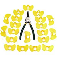 20PCS Pinless Peepers Chicken Blinders Chicken Spectacles Glasses with Pliers