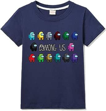 Xpialong Among Us della Ragazza del Niño Camiseta 100% de verano del algodón Tee