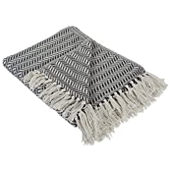 Bedroom DII Modern Farmhouse Cotton Herringbone Blanket Throw with Fringe For Chair, Couch, Picnic, Camping, Beach, & Everyday… farmhouse blankets and throws