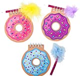 DollarItemDirect 4'' Donut Notebook with Feather Pen, Case of 144