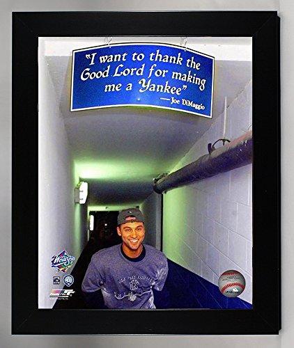 Framed New York Yankees Derek Jeter.