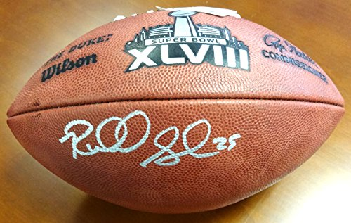 Signed leather football Richard Sherman Seattle Seahawks