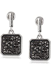 "Kenneth Cole New York ""City Scape"" Pave Square Drop Earrings"