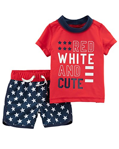 Carter's Baby Boys' 4th of July Rashguard Set 3 Months