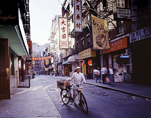 24 x 36 Giclee print of A messenger delivers food to a restaurant in the Chinatown district of New York New York r65 [between 1980 and 2006] by Highsmith, Carol M., - District Messenger